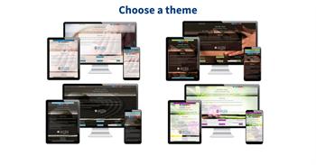 Step 1 in website setup - choose a theme